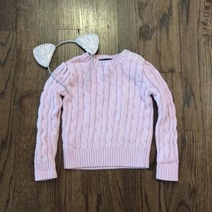 Ralph Lauren toddler girl cable knit sweater